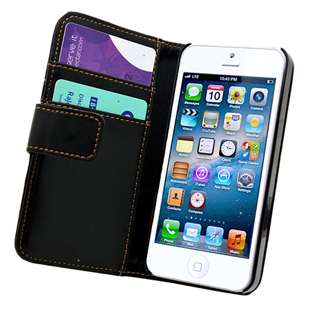 funda cartera negra iphone 5s